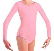 Mondor 497 Rosemall Pink Child Size Large (10-14) Long Sleeve Leotard