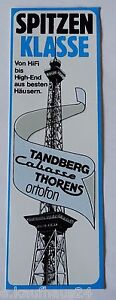 Promotional Stickers Tandberg Cabasse Thorens Ortofon Hifi 80er High-End