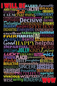 I WILL BE POSTER (91x61cm) INSPIRATIONAL ASPIRATION HAPPY NEW LICENSED ART