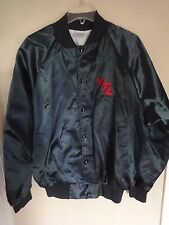 Vtg 80's YTL Youngblood Truck Lines Snap Front Satin Lined Coat Men XL Sewn Logo