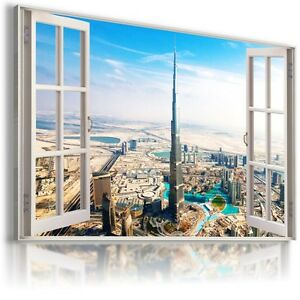 CHINA-SHANGHAI-3D-Window-View-Canvas-Wall-Art-Picture-Large-SIZE-W136-MATAGA