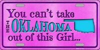 Oklahoma Girl Novelty Metal License Plate