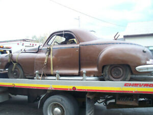 1948 chrysler  / dodge 3 window coupe , complete car for restro