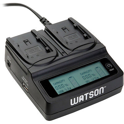Watson Duo LCD Charger for BP-800 Series Batteries