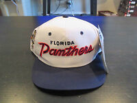 Vintage Florida Panthers Sports Specialties Snap Back Hat Hockey Script 90s