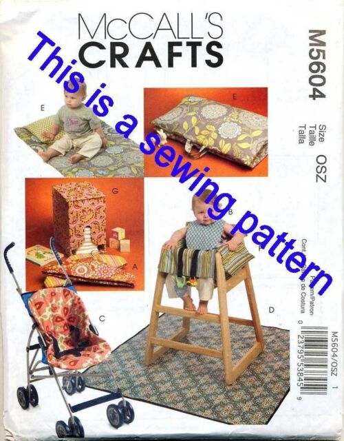 Mccall\'s Sewing Pattern 5604 Baby Nappy Stacker High Chair Stoller ...