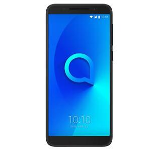 "Alcatel 3V SmartPhone 6"" 4G Android 8 16GB 14MP Black Unlocked Sim Free Grade C"