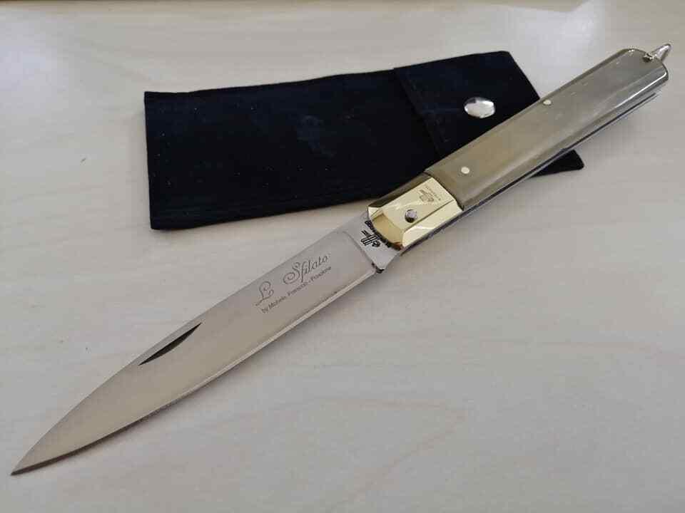 Coltello Tradizionale Sfilato 25cm manico corno Frosolone couteau navaja knife