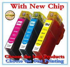 3 PK Colors Ink For HP 564XL PhotoSmart 7510 7520 5510 5520 5514 551 6510Printer