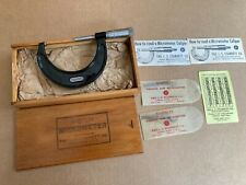 Starrett No 436 2 To 3 Micrometer 0001 With Standard 2 3 Withbox