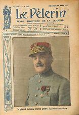 Portrait Général Amédée Henri Guillemin Directeur services WWI 1917 ILLUSTRATION