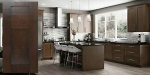 Details about Fully Assembled - All Wood 10x10 Modern Shaker Kitchen  Cabinets Elegant Espresso