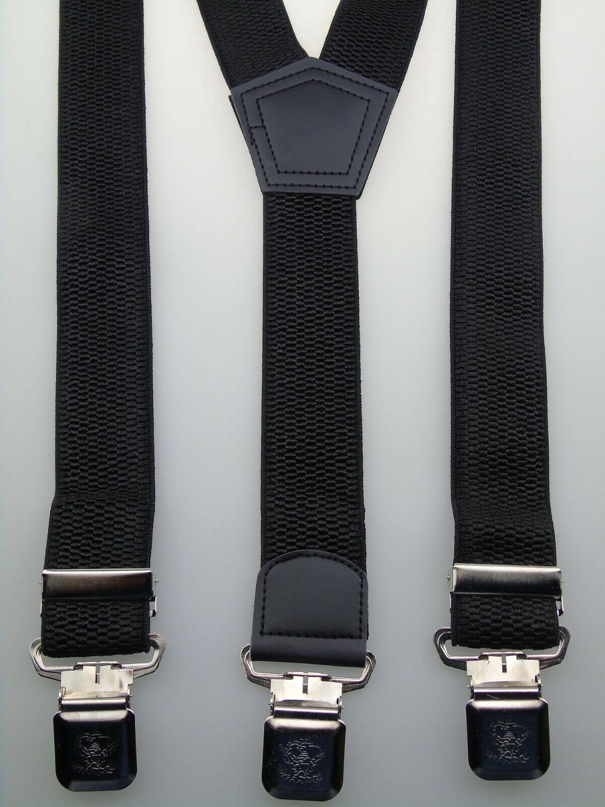 extra starke Y-Hosenträger 40 mm breit versch. Farben wählen starke Krallenclips