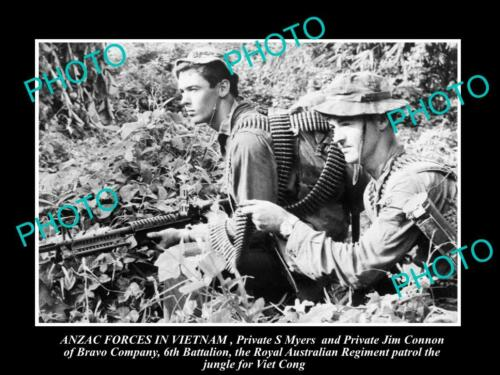 8x6 HISTORIC PHOTO OF AUSTRALIAN ARMY IN VIETNAM WAR, 6th BATTALION S8x6IER 1970