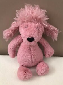 Jellycat-Small-Bashful-Pink-Poodle-Puppy-Dog-Baby-Soft-Toy-Comforter-Retired