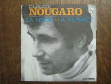 CLAUDE NOUGARO 45 TOURS FRANCE LA NEIGE