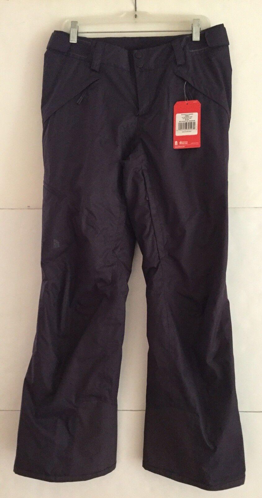 North Face Women's Medium Fourbarrel Insulated Ski Pants in Dark Eggplant Purple