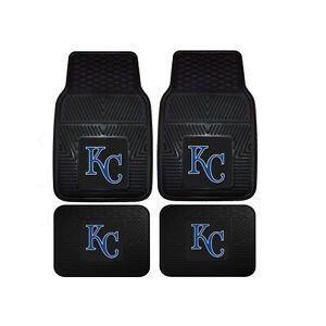New-MLB-Kansas-City-Royals-Car-Truck-Front-Back-Rubber-All-Weather-Floor-Mats