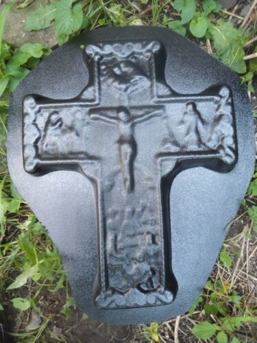 "Jesus cross mold abs plastic reusable mould  7/""L x 15/""W x 1.5 /""thick"