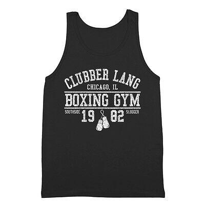 Clubber Lang Boxing Gym Retro Rocky  80S  Workout  Gym Black Tank Top
