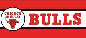 Details About Chicago Bulls Border Be504 Basketball Logo Wallpaper Red Black White Prepasted