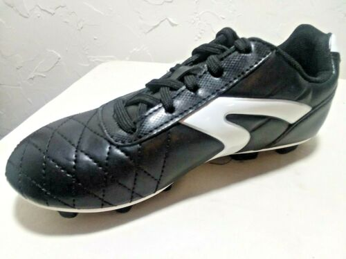 """YOUTH BOY/'S /""""1,2,3,4,5,6/"""" /""""SOCCER CLEATS/""""  /""""BLACK//WHITE/""""-SPECIAL ATHLETIC WORKS"""