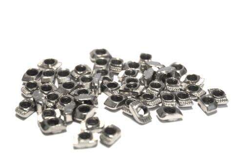 M3 M4 M5 Slot in T-nuts Hammer Nuts 20x20 Aluminium Extrusion 2020 6mm CNC UK