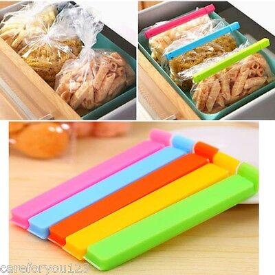 6Pcs Kitchen Storage Food Snack Seal Sealing Bag Clips Sealer Clamp Plastic Tool