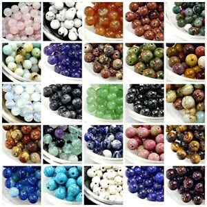 Gemstone-Round-Beads-4mm-100pcs-6mm-8mm-10mm-12mm-Natural-Loose-High-Quality