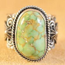 Navajo Sterling Silver Ring Gem Grade USA Carico Lake Turquoise Donovan Cadman