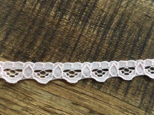Laverslace Dainty Bébé Rose délicat étroite bordure en dentelle 1 cm Mariage Artisanat