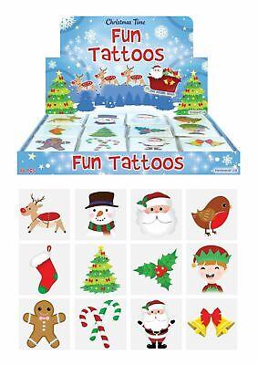 Noël tatouage temporaire Santa Neige Enfants Stocking Remplissage Sac Fête pinnata