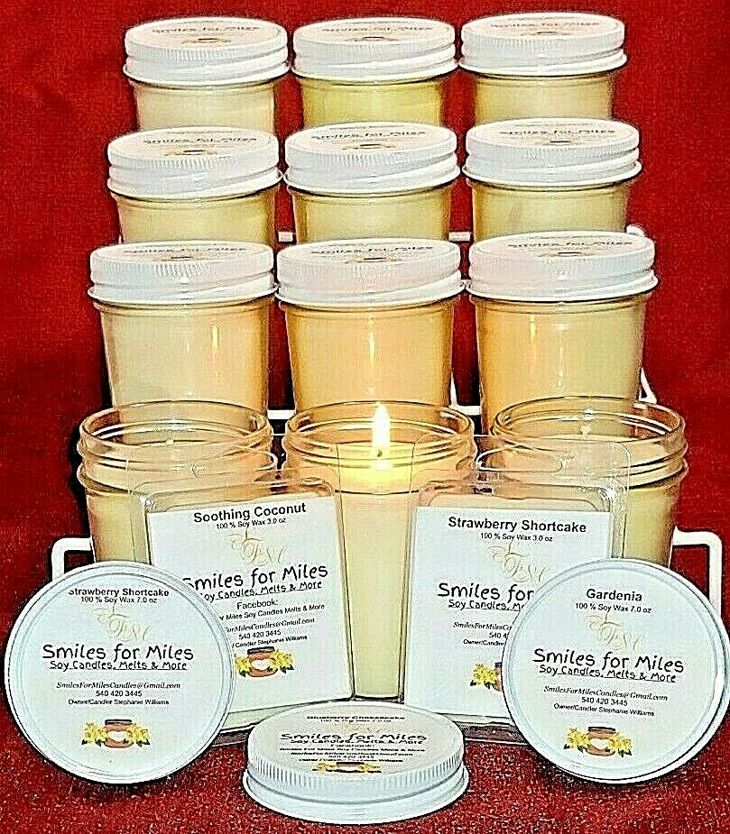 CASE  12- 7 oz highly fragrant Soy Candles PLUS FREE GIFT (You choose fragrance)