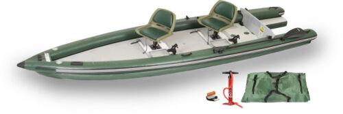 Sea Eagle FSK16 2-Person Swivel Seat Pkg Fish Skiff Boat Inflatable Make Offer!