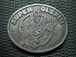 SUPER OLEFIN BELT BUCKLE! VINTAGE! VERY RARE! JAMES LIND DESIGN! 1976! USA! LOOK