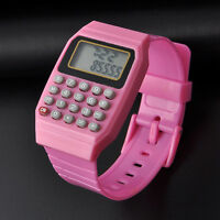 Children Kids Silicone Date Electronic Multi-Purpose Wrist Calculator Watch New