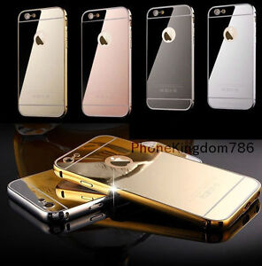 the latest 944ef 8b1bf Details about IPhone 8 Luxury Aluminium Mirror Case i Phone Cover for Apple  7 6+ 6s 5c 5 SE