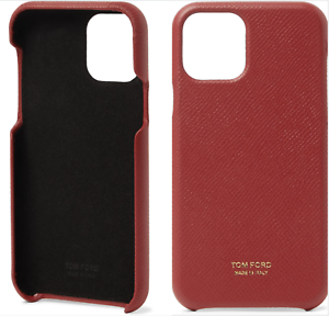 Tom-ford-Iconic-Red-Phone-Leather-Phone-Mobile-IPHONE-11-Pro-Case-Cover