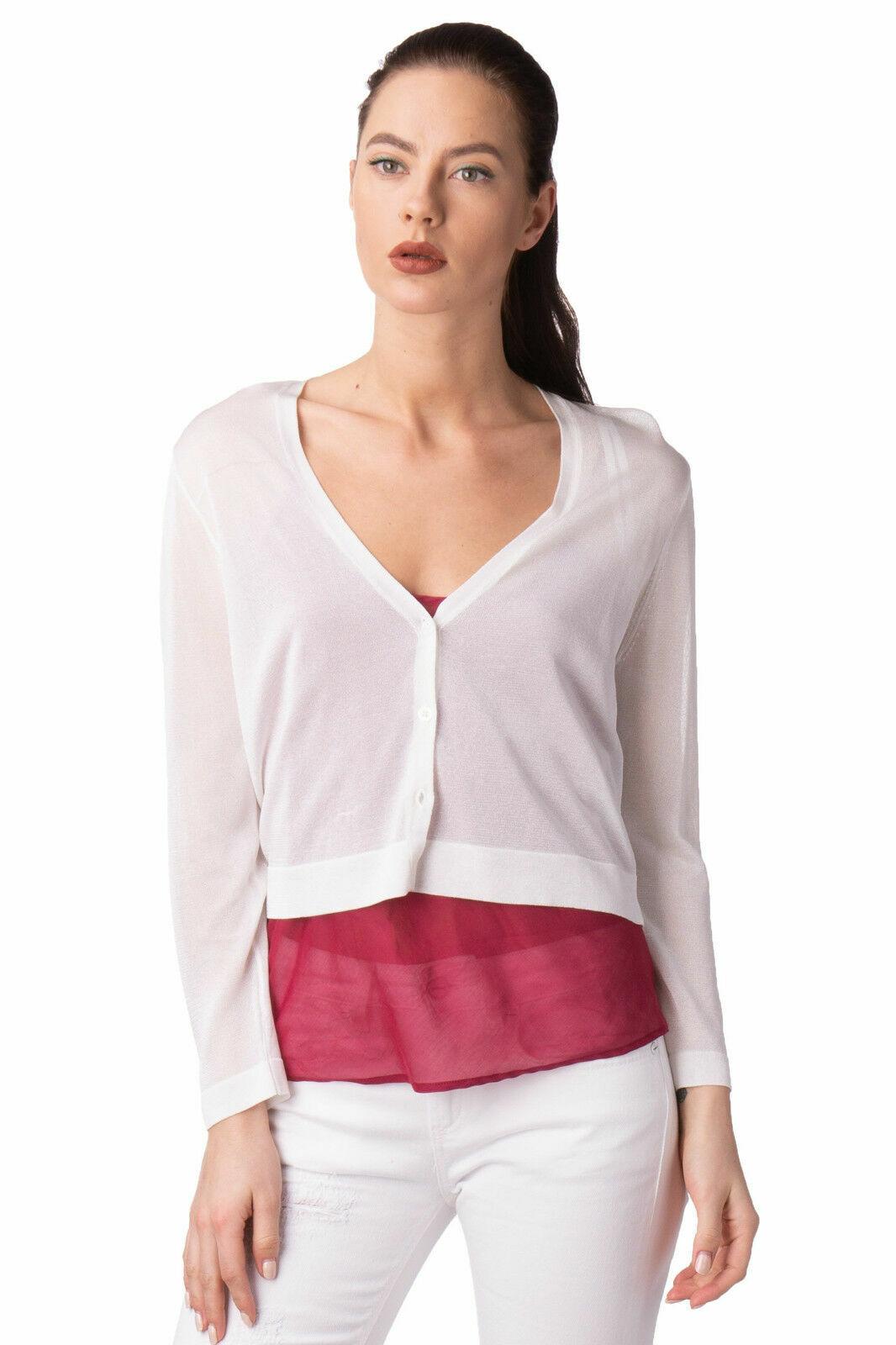 Lauren by Ralph Lauren NEW White Women's Sheer Crop Shrug Sweater Cardigan S