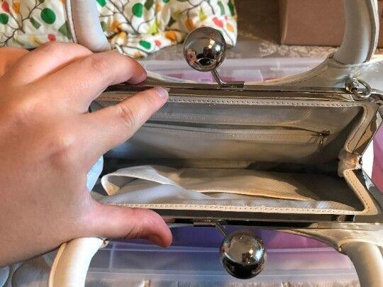 Vintage White Mermaid Purse, shell purse, shell m… - image 4