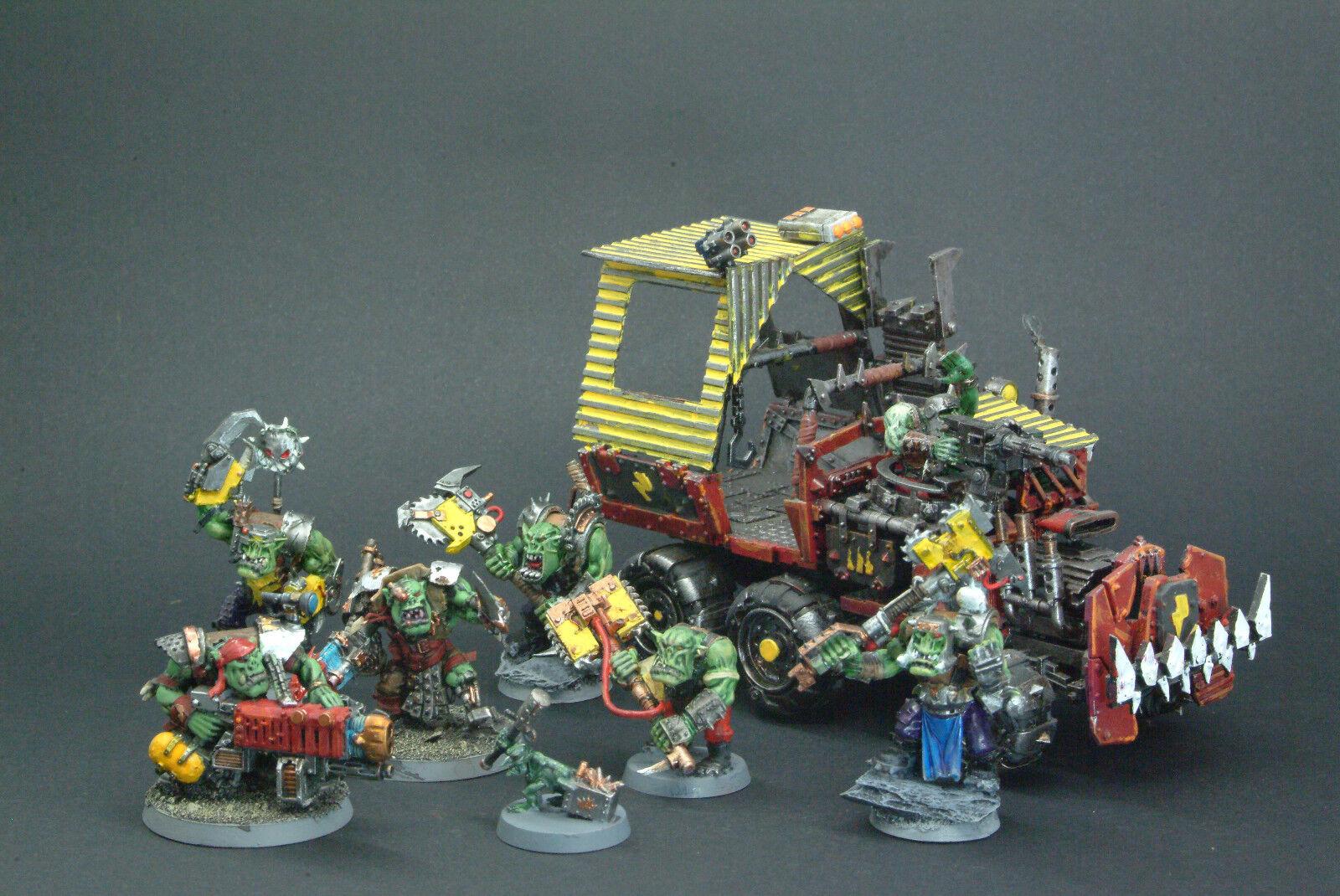 Gorkamorka Warhammer 40k Ork WARBAND pintado por radio de equipo