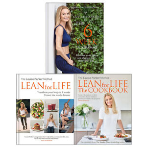 Louise Parker Lean for Life Cookbook 6 Week Programme 3 books collection NEW 9781784725372