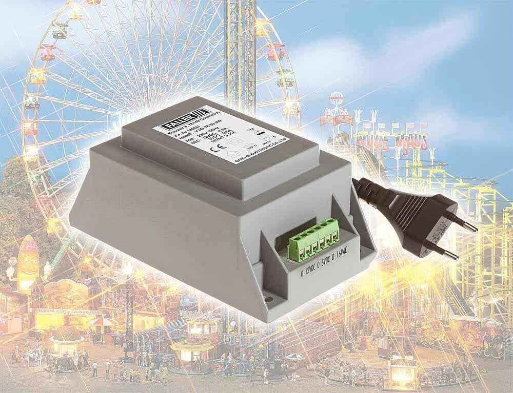 Faller 180641 Trasformatore 50 va 50-60hz (AC + DC), 147 x 84 x 64 mm + + NUOVO IN SCATOLA ORIGINALE