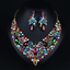 Fashion-Crystal-Pendant-Bib-Choker-Chain-Statement-Necklace-Earrings-Jewelry thumbnail 175