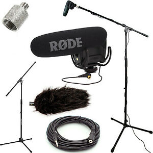 RODE-VideoMic-Pro-Mic-Studio-Boom-Kit-DeadCat-Boom-Stand-Adapter-25-039-Cable