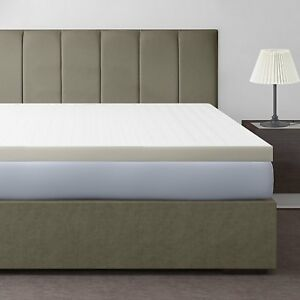 Memory Foam Mattress Topper Cooling Bed Pad Cover Pillow Top Soft 3