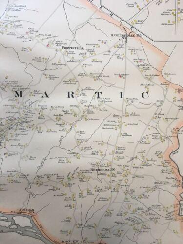 MARTIC 1899 GRAVES /& STEINBARGER PA LANCASTER COUNTY COPY PLAT ATLAS MAP