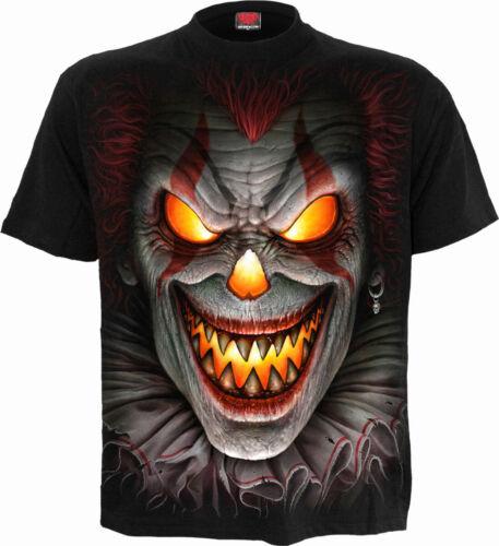 SPIRAL DIRECT FRIGHT NIGHT  T-Shirt,//Tee//Top// Biker//Skull//Goth//Horror//clown
