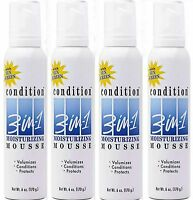 Condition 3-in-1 Hair Mousse, Moisturizing - 6 Oz (pack Of 4)