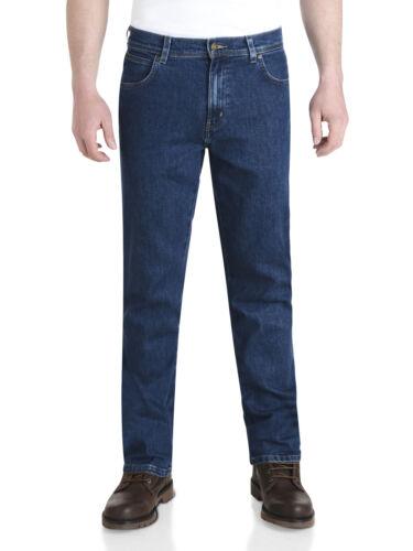 Wrangler Durable Stretch Denim Jeans Basic Regular Fit Stonewash Blue